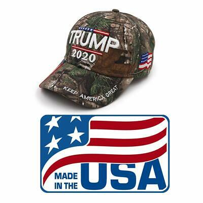 Trump 2020 MAGA Camo Embroidered Hat Keep Make America Great Again  Made in USA