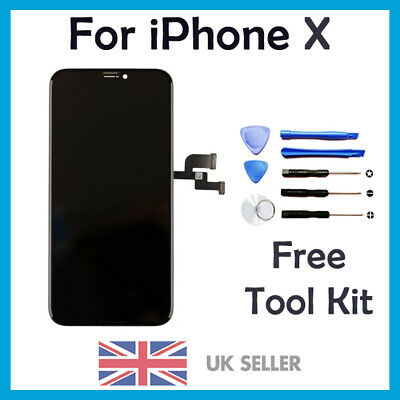 iPhone X 10 OLED -  LCD Screen Digitizer Display Replacement 3D Touch UK