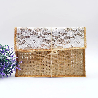 10 30 50 80 100 Rustic Country Burlap And Lace 5X7 WEDDING Invitation Custom