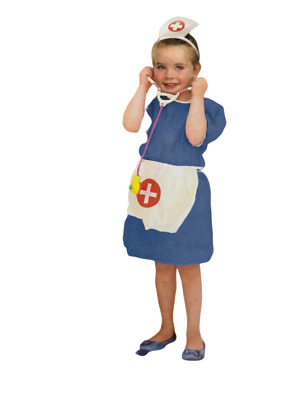 KIDS CHILDRENS CHILDS DOCTOR HOSPITAL FANCY DRESS OUTFIT COAT COSTUME AGE 3-5-7