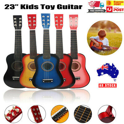 23'' Kids Toy Guitar Children Acoustic Prop Musical 6String Practice Guitar Gift