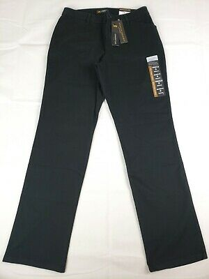 Lee Women's All Day Pants Relaxed Fit Straight Leg Trouser Black 6M NEW NWT