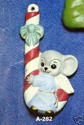 Ceramic Bisque Christmas Ornament Mouse in Match Box Alberta Mold 124 U-Paint