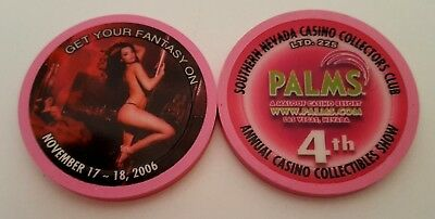 Las Vegas Palms 4th Annual Chip Show Poker Tournament Casino Chip - Unc.