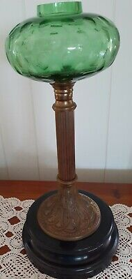 Round green dimple font for antique style oil lamp. Reproduction- 150mm diameter