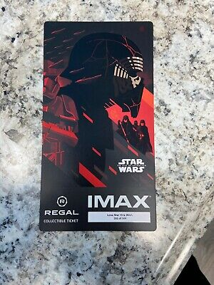 Star Wars:The Rise Of Skywalker,Regal IMAX  Collectible Ticket Week 3