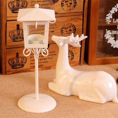 Iron Craft Moroccan Style Candle Holder Candlestick Indoor Home Art Decor White