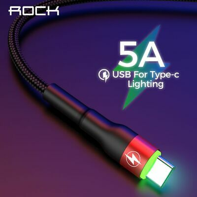 Type C 5A LED Light USB Type C Cable USB Fast Charging QC 4.0 Charger Type-c New