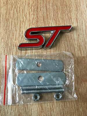 1x ST Metal Badge Front Grill Badge Emblem Top Quality ST Focus Red