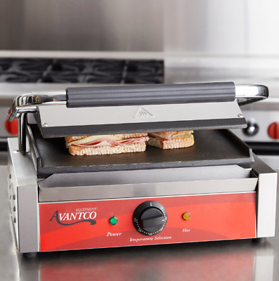 Smooth Commercial Restaurant Panini Sandwich Maker Grill Press Griddle Kitchen
