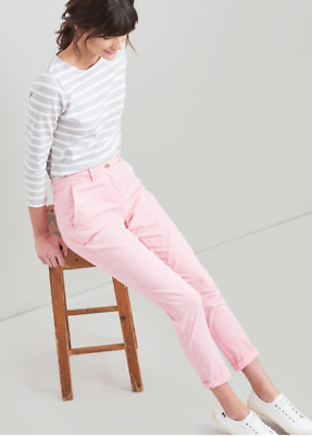 Pale Pink Joules Hesford Chinos Stretch Cotton Slim Fit Trousers  size 16 & BNWT
