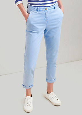 Light Blue Joules Hesford Chinos Stretch Cotton Slim Fit Trousers - 14 & BNWT