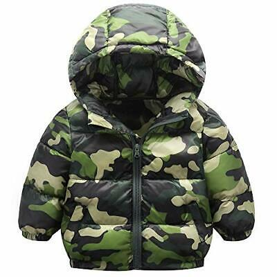 Unisex Toddler Child Padded Overcoat Cotton Jackets Light Outwear Camo Warm
