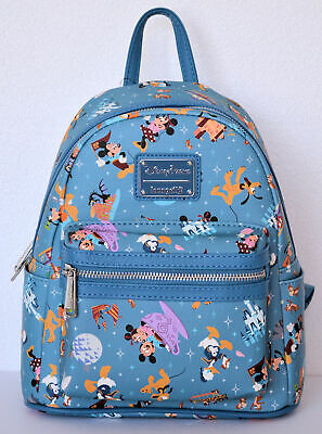 Disney Parks 2020 Park Life Loungefly Backpack Mickey Mouse Attraction Icons NWT