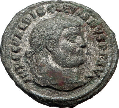 DIOCLETIAN 296AD Authentic Ancient Roman Coin Protection Genius Cult  i44459