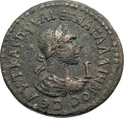 GALLIENUS 253AD Side Pamphylia Necorate Authentic Ancient Roman Coin  i44154