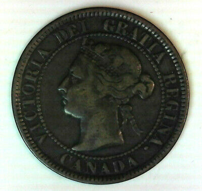 1884 Canada large cent  nice circulated world  type coin  FREE ship in the USA