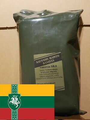 Lithuanian Army MRE Daily Ration Meal Survival Hiking Camping EXPIRE 2020-09