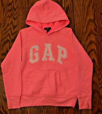 Gap Kids Pull Over Hooded Pink Girls Sweatshirt, Size M 8-9 years