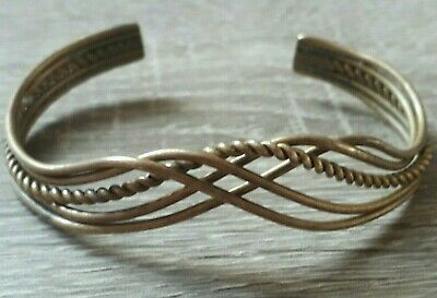 Ancient Adjustable Twisted Bronze Bracelet Rare Viking Artifact Unique Antique