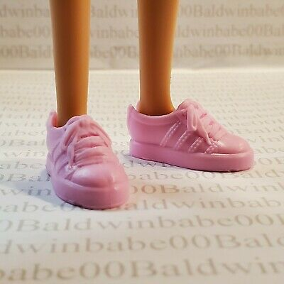 Shoes ~  Barbie Doll Flat Foot Fashionista Cookie Swirl C Pink Tennis Sneakers