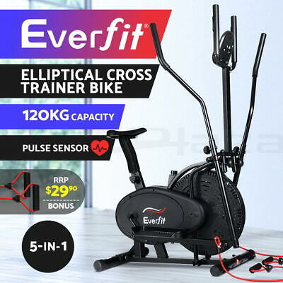 Everfit 5in1 Elliptical Cross Trainer Exercise Bike Bicycle Home Gym Fitness