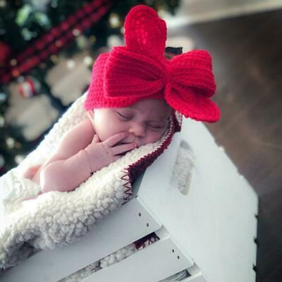 NEW Baby Toddler Girls Headband Crochet Knitted Bow Turban Hair Hair Band Wear