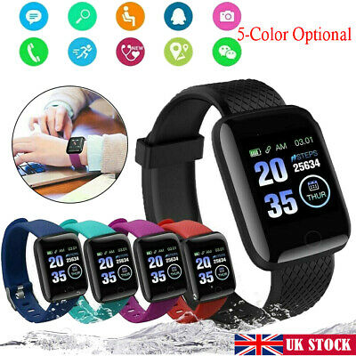 116Plus Smart Watch Bluetooth Heart Rate Blood Pressure Monitor Fitness Tracker#