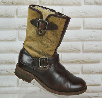 WOMENS THE ART Company Suede Brown Leather Boots Uk4 EU37