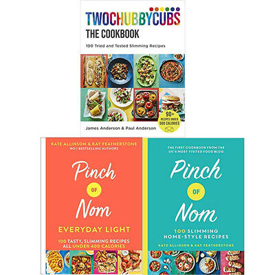 Twochubbycubs,Pinch of Nom(Everyday Light, 100 Slimm)3 Books Collection SET NEW
