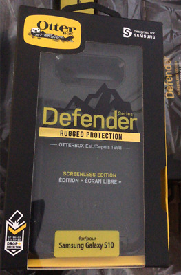OEM Otterbox Defender Series Case for Samsung Galaxy S10 Belt & Clip Cover Black
