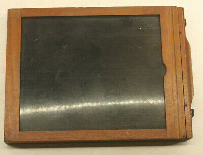 "4x5"" Dry Plate Glass Film Holder Wood OD 14x120x153mm - USED H240"