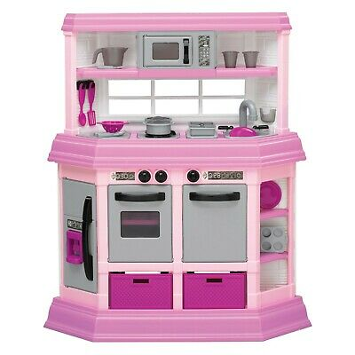 American Plastic Toy Deluxe Custom Kitchen Play Toy Set for Kids (Open Box)