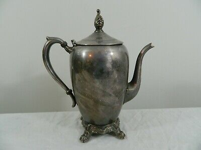 Antique 1883 FB Rogers Silver Co  Silverplate Footed Coffee Tea Pot 2670 Ornate