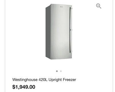 Westinghouse 420L Upright Stainless Steel Freezer