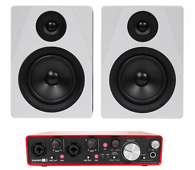 Focusrite SCARLETT 2I4 2nd 192kHz USB Audio Recording Interface+Studio Monitors