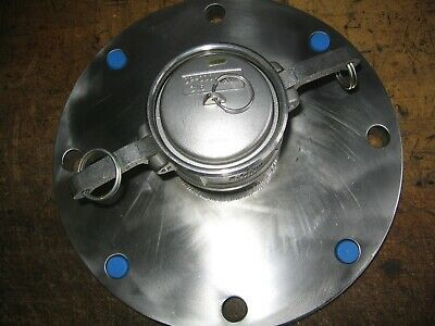 """316 Stainless 150# 8"""" Flange to Dixon 3"""" Camlock Cam & Groove Adapter w/Dust Cap"""