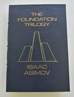 """Easton Press """" The Foundation Trilogy """" Signed by Isaac Aimov. Unread Orig owner"""