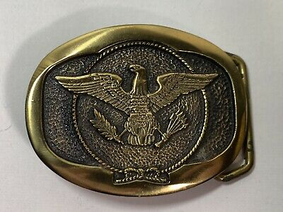 American Eagle Belt Buckle Keith Smykal Solid Brass