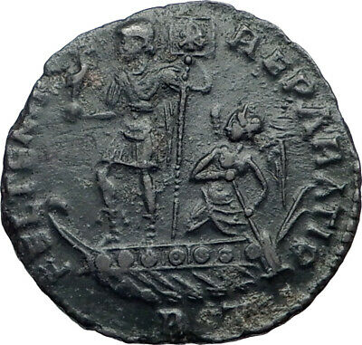 CONSTANS on Galley Phoenix Victory 348AD AE2 Rome Mint Roman Coin i43468