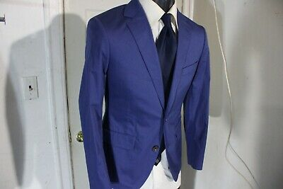 Bonobos Slim Fit Size 36 Short Blue Cotton 2 Button Sportcoat