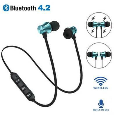 Bluetooth 4.2 Stereo Earbuds Earphone Headset Wireless Magnetic In-Ear Headphone