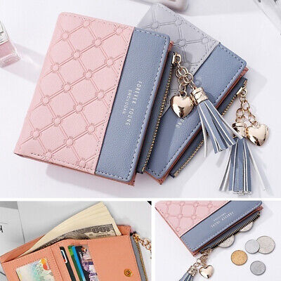 Bifold Women's Fashion ID Card Holder Wallet Clip Coin Purse Leather Wallets