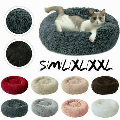 Large Pet Calming Bed Bed Soothing Dog/Cat Bed Warm Fleece Puppy Mat Pet Beds UK