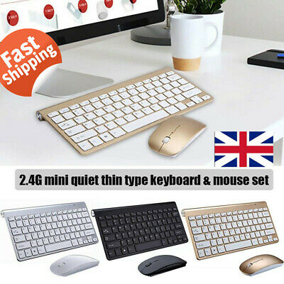 2.4G Wireless Mini Keyboard and Cordless Optical Mouse Set For PC Desktop Laptop