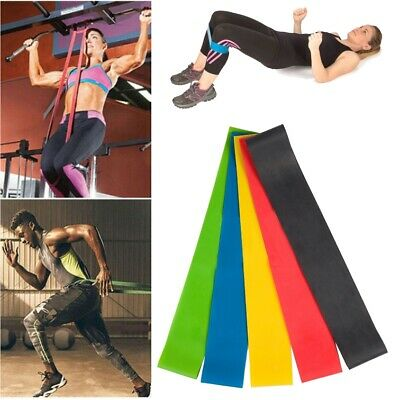 Elastic Resistance Bands Yoga Band Exercise Gym Pilates Stretch Straps Physio