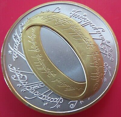 2003 Lord Of The Rings Silver Gold Star Wars Sci-Fi Fantasy New Zealand Coin