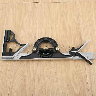Adjustable Ruler Multi Combination Square Angle Finder Protractor Tools 300mm