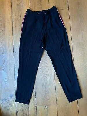 ** Ladies M&S Collection Black with Side Stripes Size 6 Regular Trousers **
