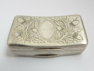 Lovely Decorative English Antique Georgian 1811 Solid Sterling Silver Snuff Box